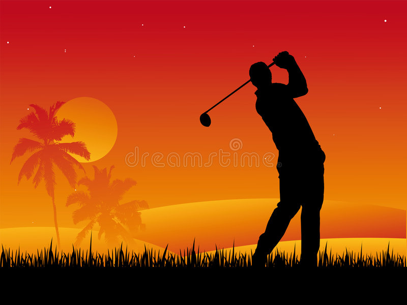 golfspelare stock illustrationer