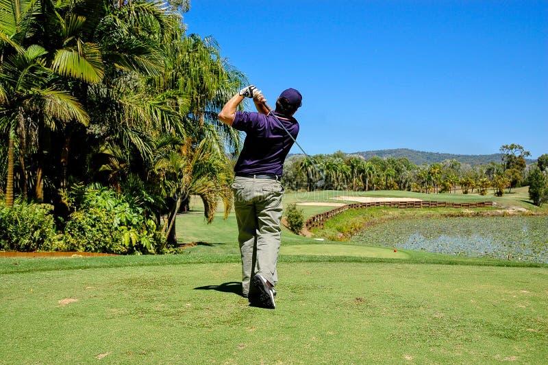 Golfspeler royalty-vrije stock afbeeldingen