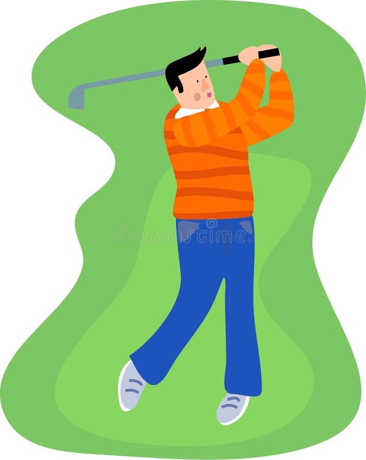Download Golfspeler stock illustratie. Illustratie bestaande uit schommeling - 278483
