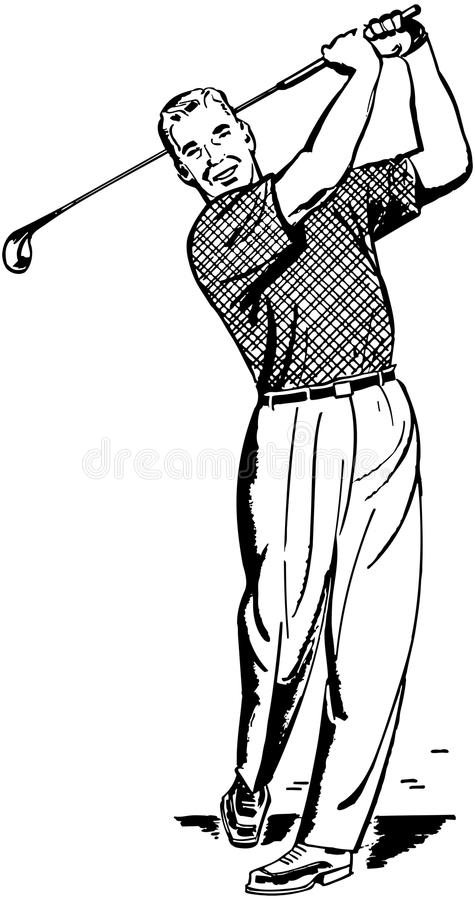Golfspeler 2 vector illustratie