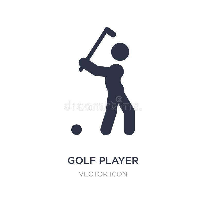 golfspeler die pictogram op witte achtergrond raken Eenvoudige elementenillustratie van Sportenconcept stock illustratie