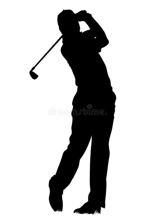 Golfspeler - geïsoleerdee mens royalty-vrije illustratie