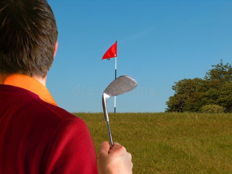 Golfspeler - Kort Spel royalty-vrije stock foto's