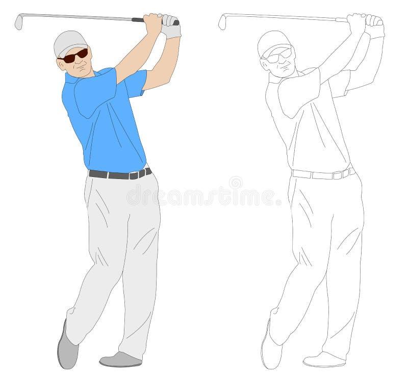 Golfspelerillustratie royalty-vrije illustratie