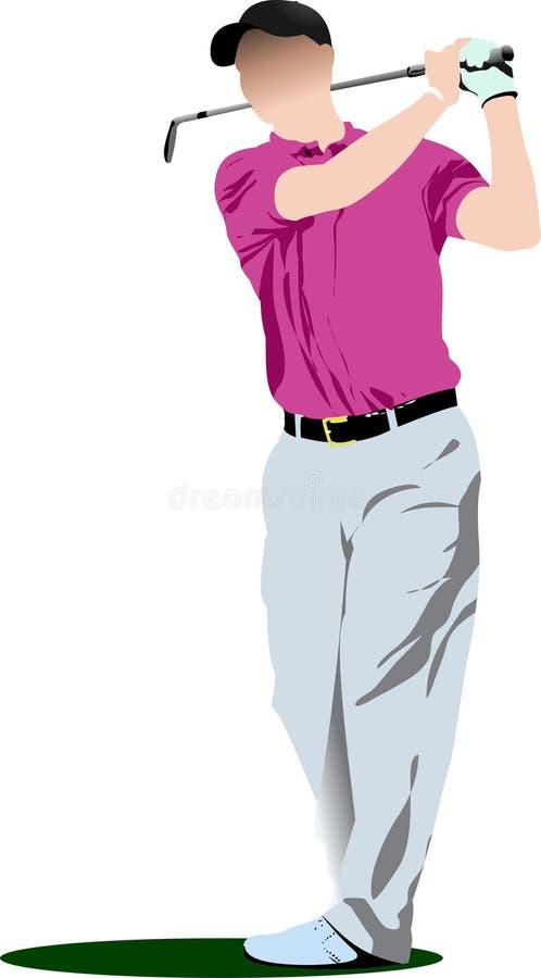 Golfspelers Vector illustratie royalty-vrije illustratie