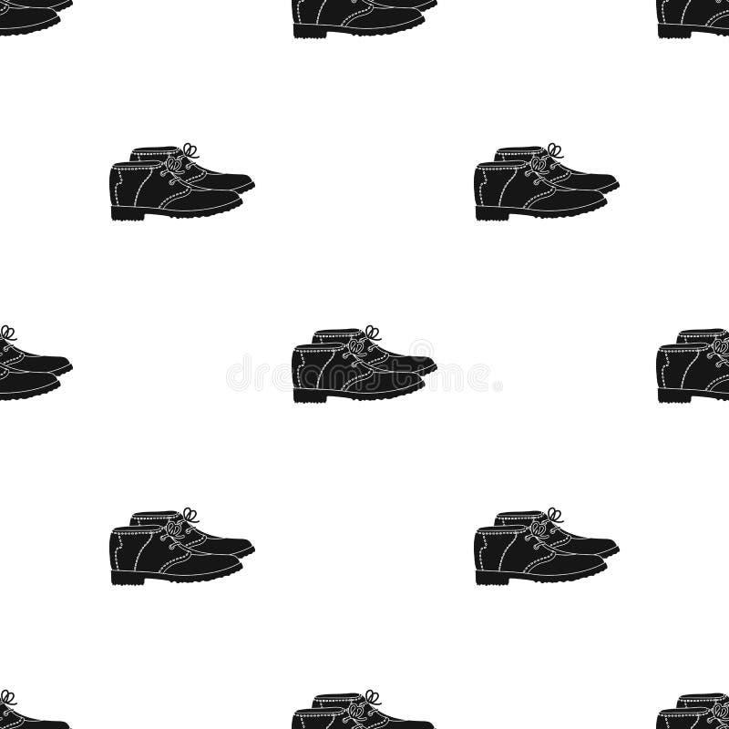 Golfspelerschoenen Golfclub enig pictogram in het zwarte Web van de de voorraadillustratie van het stijl vectorsymbool stock illustratie