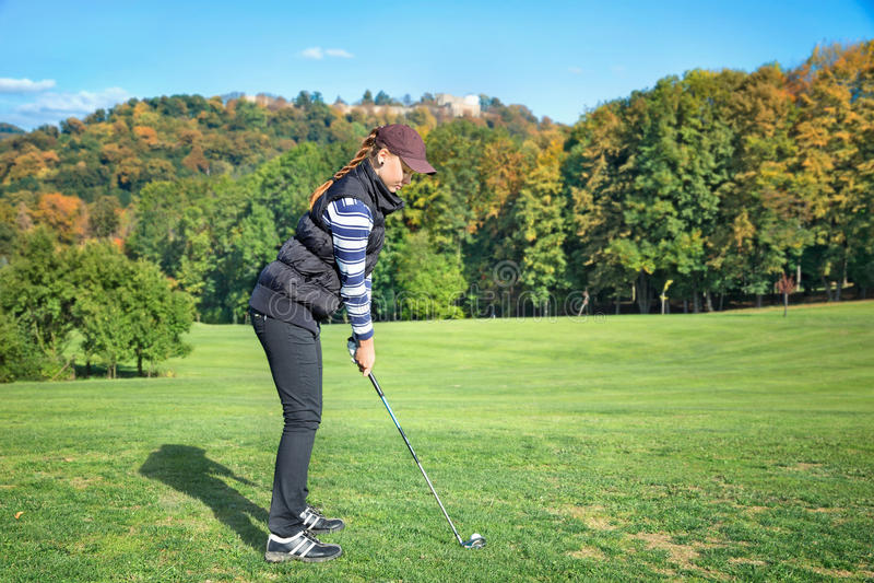 Golfspelervrouwen royalty-vrije stock foto's