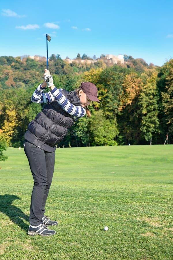 Golfspelervrouwen stock foto