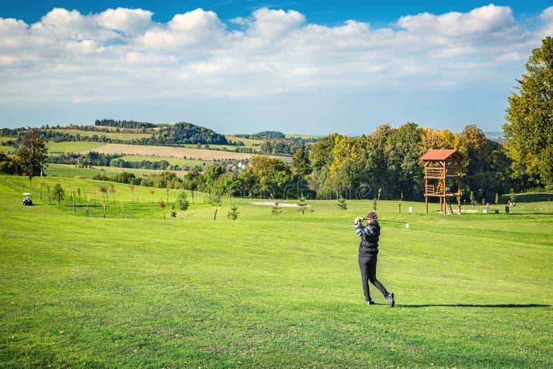 Golfspelervrouwen stock foto's