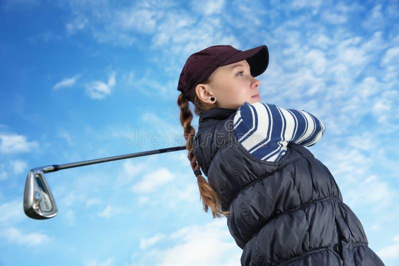 Golfspelervrouwen royalty-vrije stock fotografie