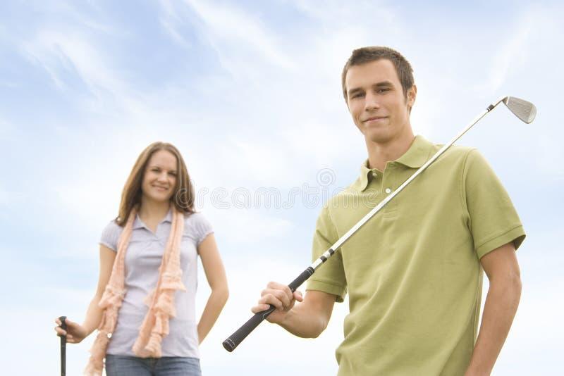 Download Golfspieler stockbild. Bild von abschluß, neigung, schlag - 12202369