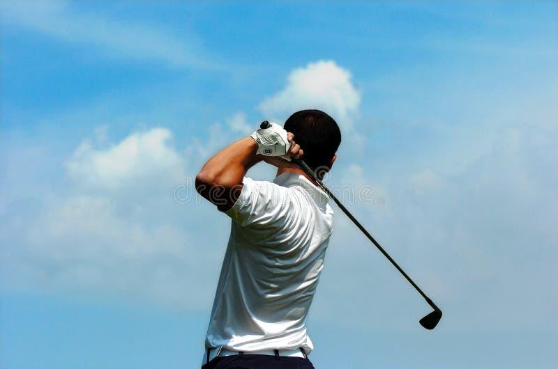 Golfspieler lizenzfreies stockfoto