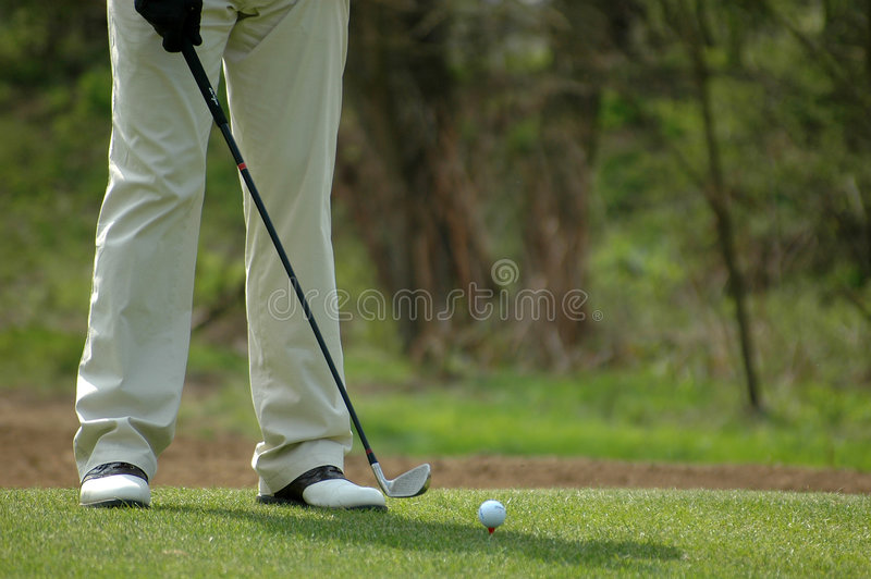 Golfspieler lizenzfreie stockfotografie
