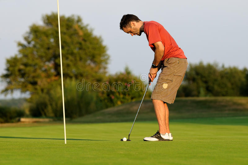 Golfspieler-sieben lizenzfreie stockbilder