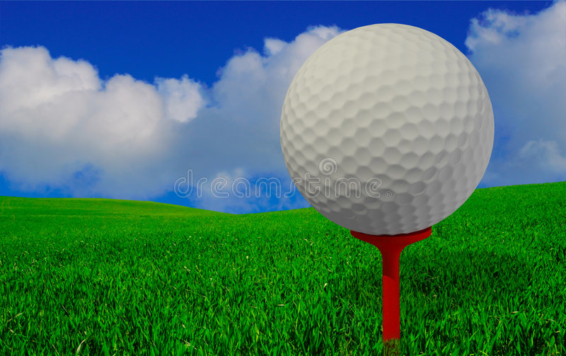 Golfspieleransicht lizenzfreie stockfotografie