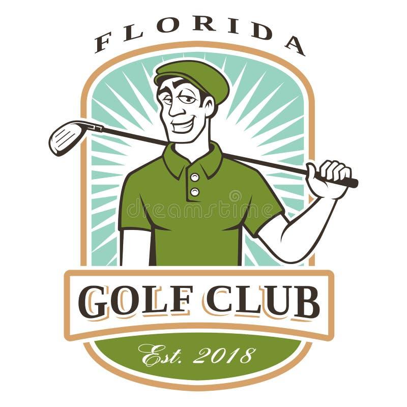 Golfspielerlogo vektor abbildung