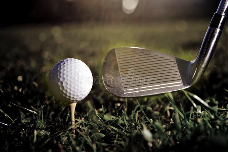 Golfspielweinlese stockbild