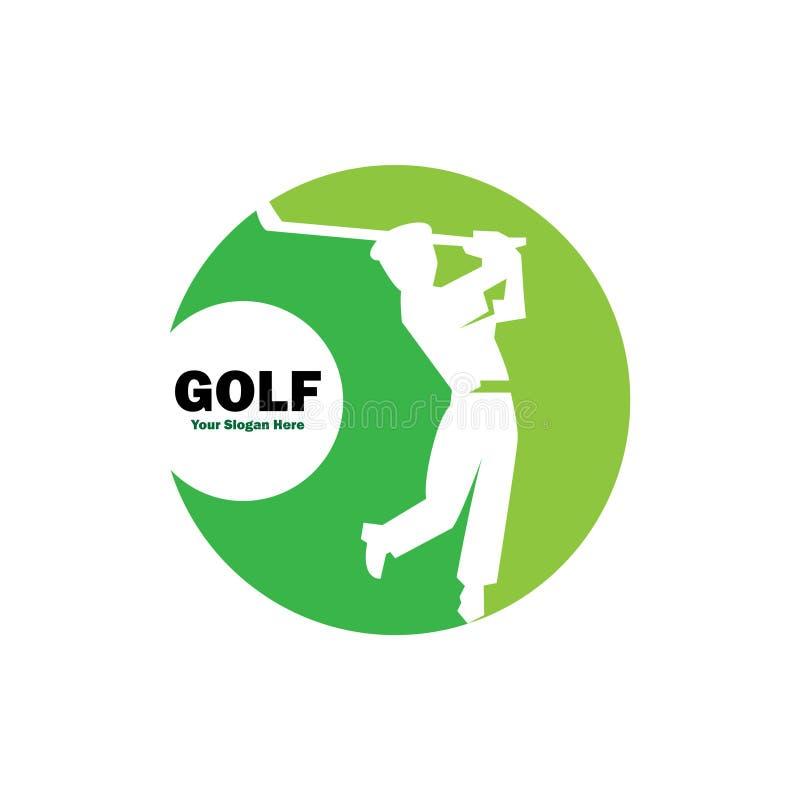Golfsport för sunt liv royaltyfri illustrationer