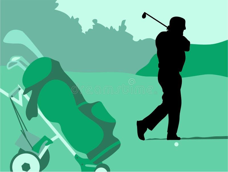 golfswing royaltyfri illustrationer