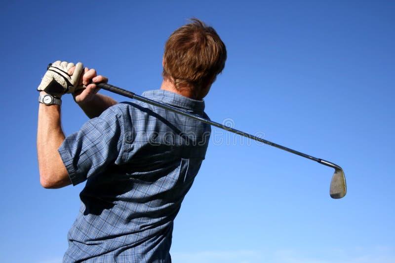 golfswing royaltyfria bilder