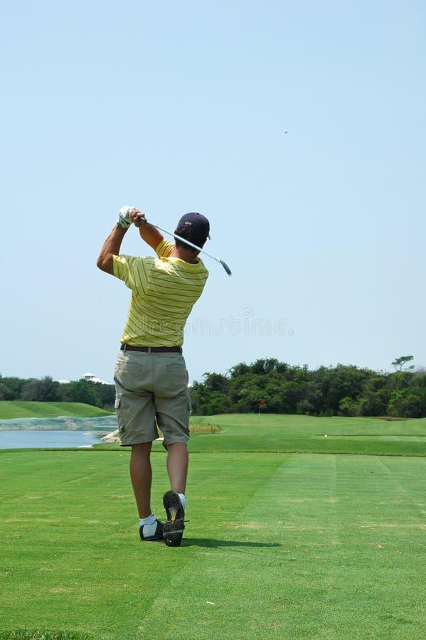 golfswing fotografering för bildbyråer