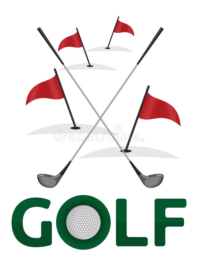Golfsymbol stock abbildung