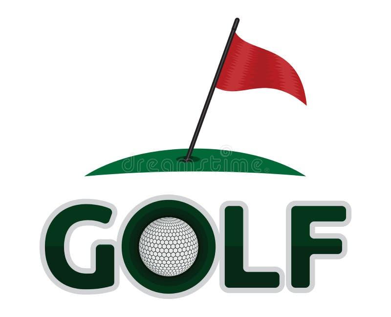Golfsymbol vektor abbildung