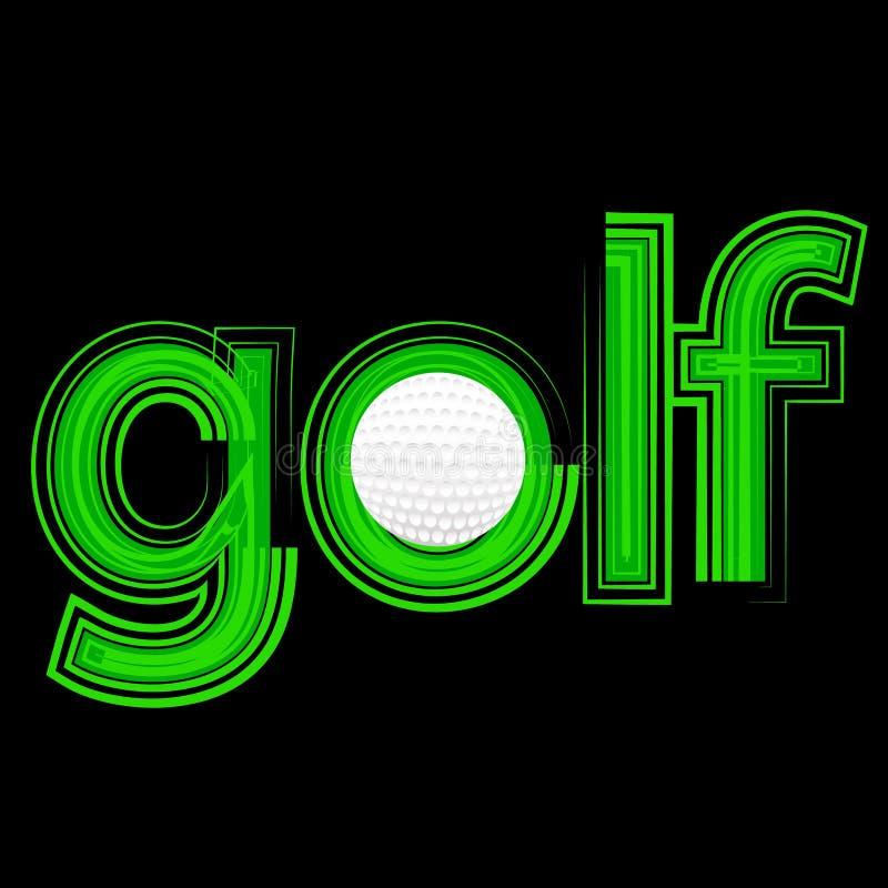 Golfsymbol royaltyfri illustrationer