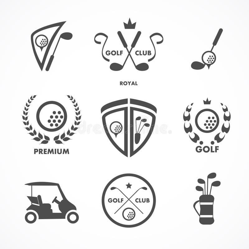 Golftecken och symboler royaltyfri bild