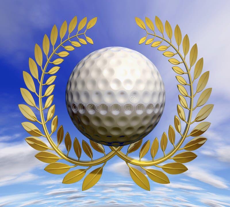Golftrophäe stock abbildung