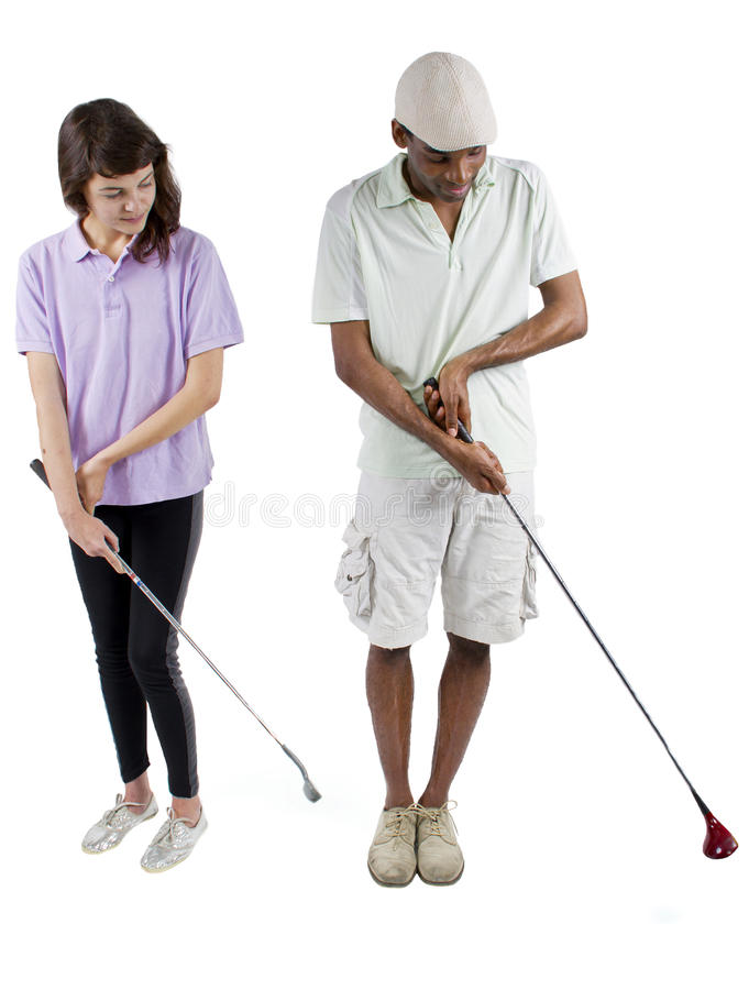 GolfTutorials royaltyfri bild