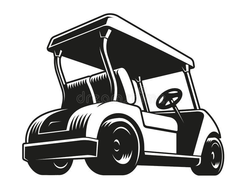 Golfvagn stock illustrationer