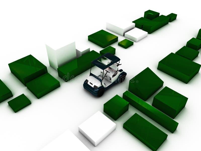 Golfvagn vektor illustrationer