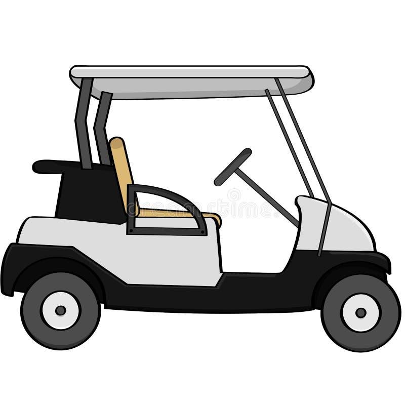 Golfvagn royaltyfri illustrationer