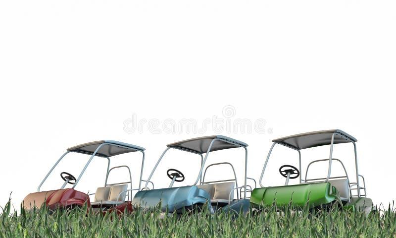 Golfvagnar royaltyfri illustrationer