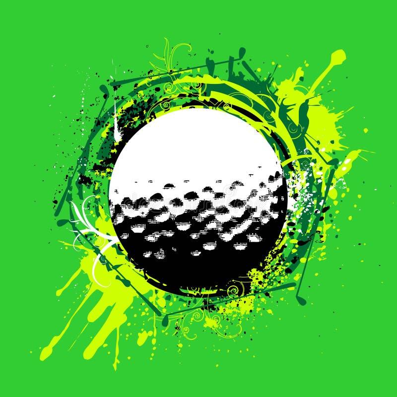 golfvektor vektor illustrationer