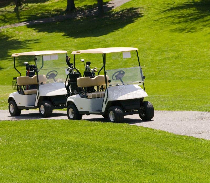 Golfwagen stockbilder