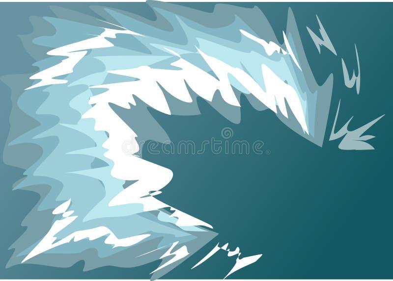 Golfwater een tsunami stock illustratie