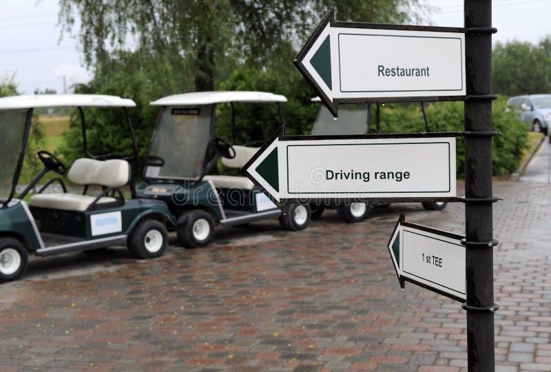 Golfzeichen stockfotos