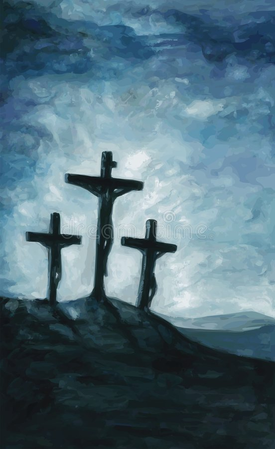 golgotha stock illustrationer