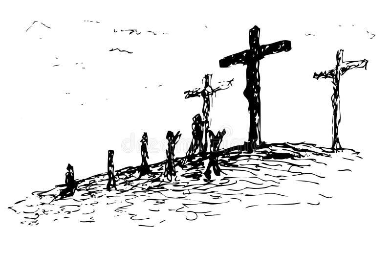 Golgotha (vetor) ilustração royalty free