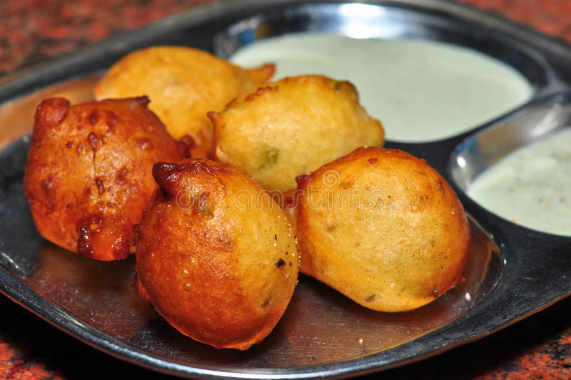 Goli Bajje. A famous konkani vegeterian snack royalty free stock images