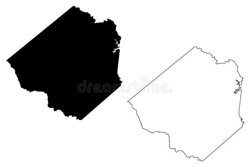 Goliad okręg administracyjny, Teksas okręgi administracyjni w Teksas, Stany Zjednoczone Ameryka, usa, U S , USA mapy wektorowa il royalty ilustracja