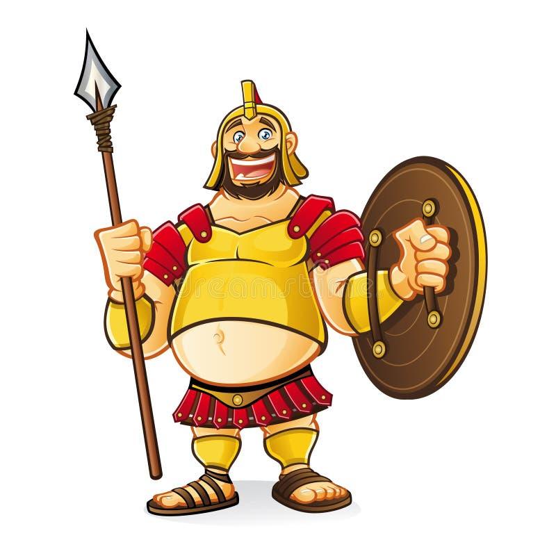 Goliath gordo stock de ilustración