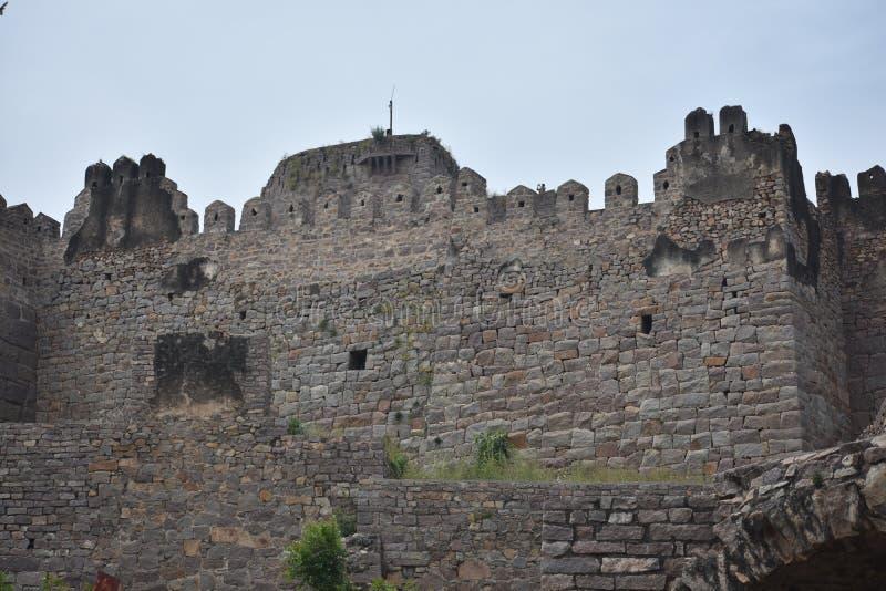 GolKonda堡垒海得拉巴 库存图片