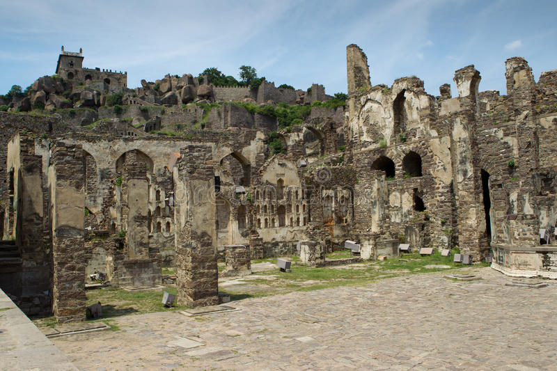 Download Golkonda Fort stock photo. Image of golconda, fort, fortress - 22205994