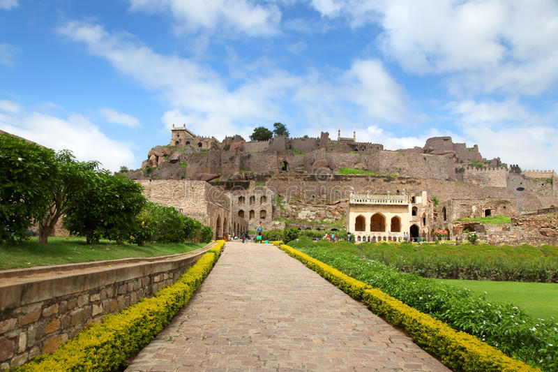 Golkonda fort royaltyfri fotografi