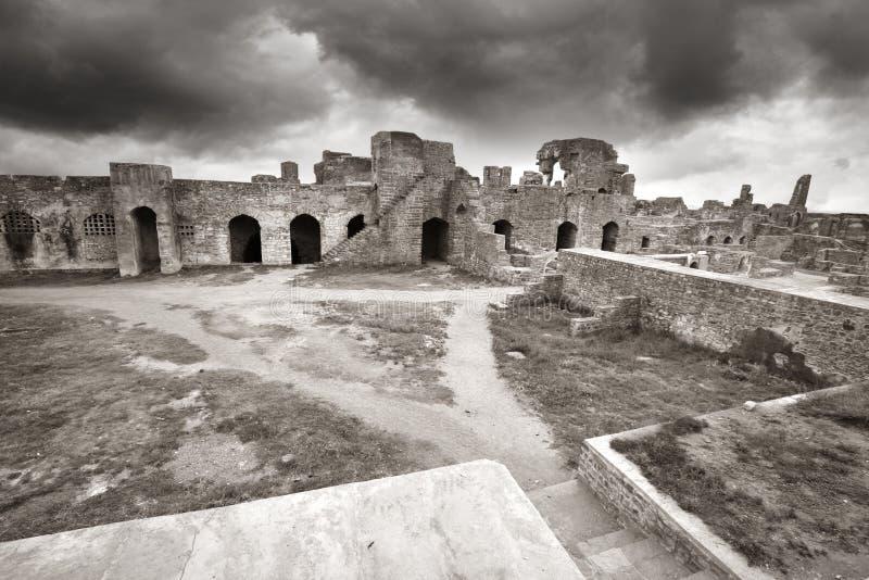 Golkonda fort arkivbilder