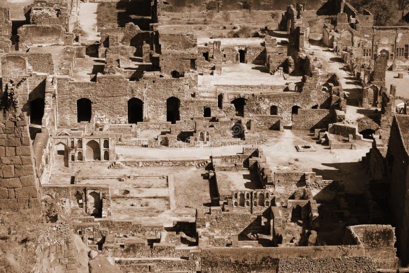 Golkonda fort royaltyfri bild
