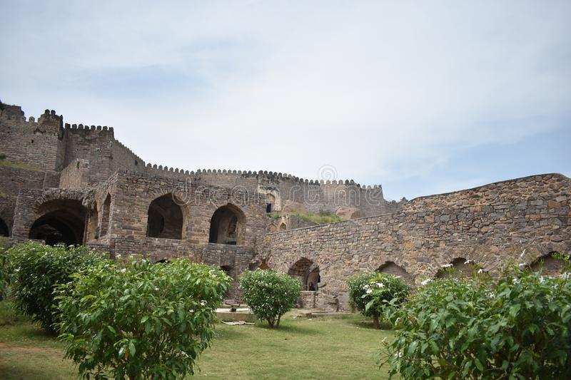 GolKonda fort Hyderabad fotografia stock